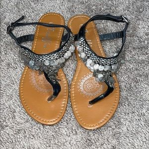 Coin Sandals Size 6